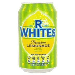 R WHITES LEMONADE CANS